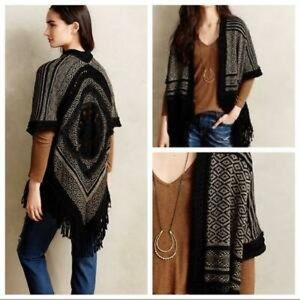 Fringe poncho from Anthropologie